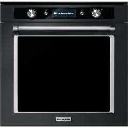 kitchenaid koaspb60600 - four multifonctions vapeur - pyrolyse - acier inox noir - artisan