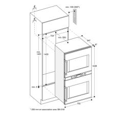 BX 480/481 - Schéma Encastrement