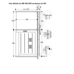 BM454/455 Dessin Technique - Vue Latérale