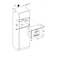 CMP250101 Machine à café expresso tout automatique serie 200 Anthracite Plan 2
