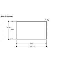 CG492111F Gaggenau table gaz 100 cm 5 foyers - vue dessus