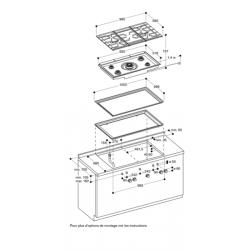CG492111F Gaggenau table gaz 100 cm 5 foyers -montage