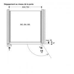 BO421101 Charnière gauche - Anthracite plan technique